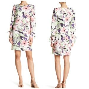 Nine West Long Sleeve Puff Printed T-Shirt Dress